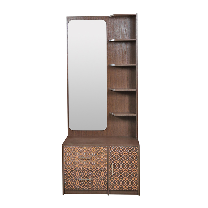 Nebula Dresser with Mirror in Coffee Brown Colour,Bedroom Furniture