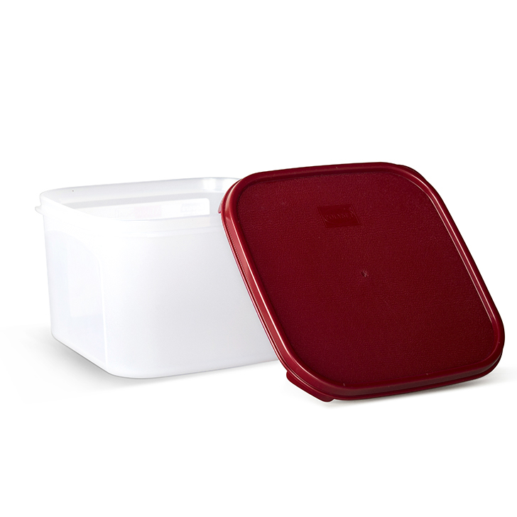 Polyset Magic Seal Container Square Red 2600 ml,Containers