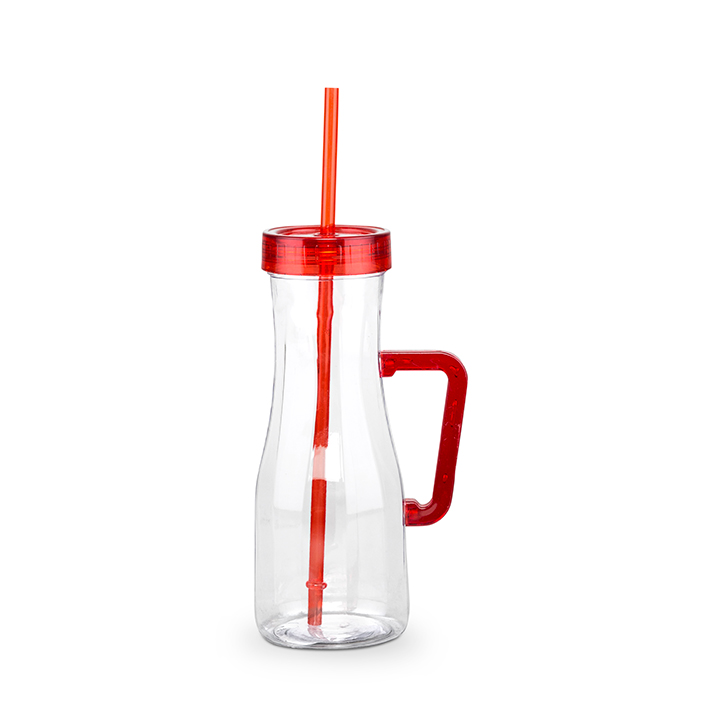 Living Essence Jb Juice Sipper Red And Clear 600 ml,Cooking Essentials