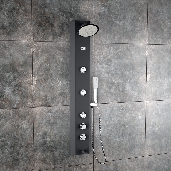 Otis Black shower panel,Shower Panels