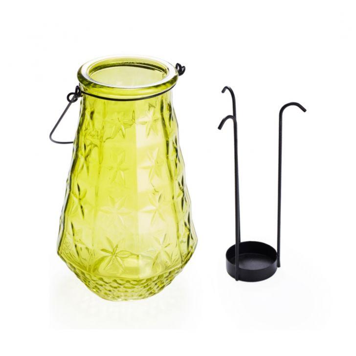 Ezra Star Embellished Candle Holder  Lime,Candle Holders