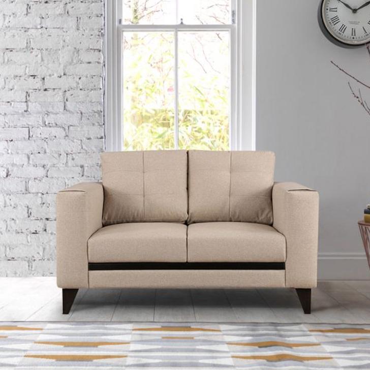 Garcia Fabric Two Seater Sofa Beige,All Sofas