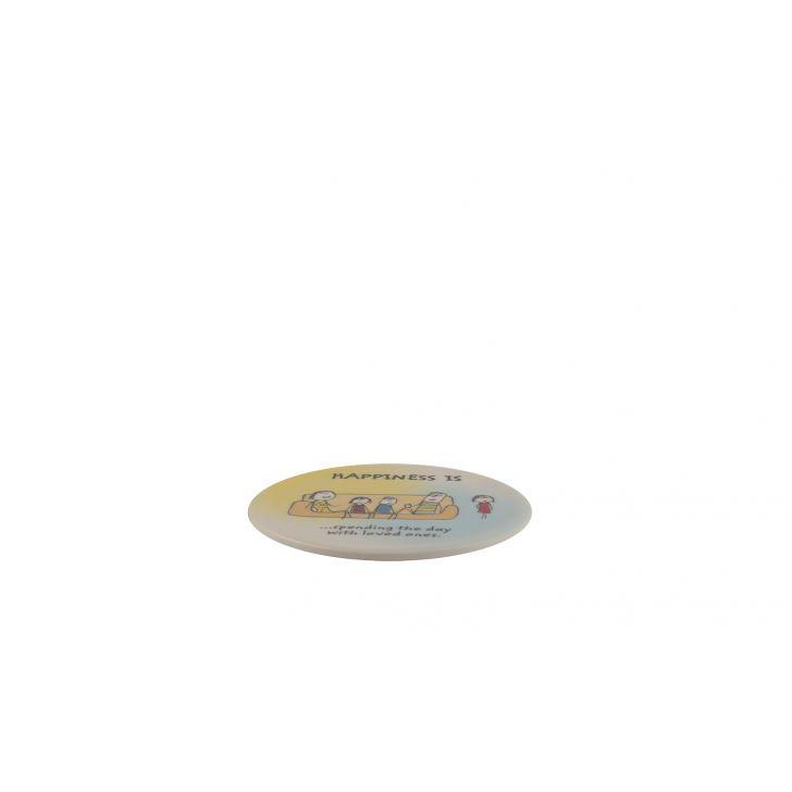 Happiness Round Coaster - Rad Assrt,Drinkware