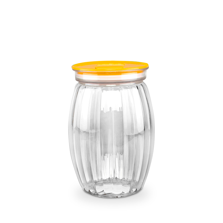 Living Essence Canister Mustard 1500 ml,Containers