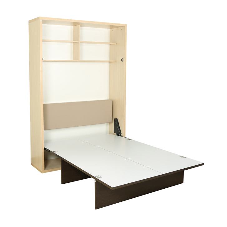 Glen Space Saver Single Bed in Doughlas Pine & Frosty White Finish,All Beds