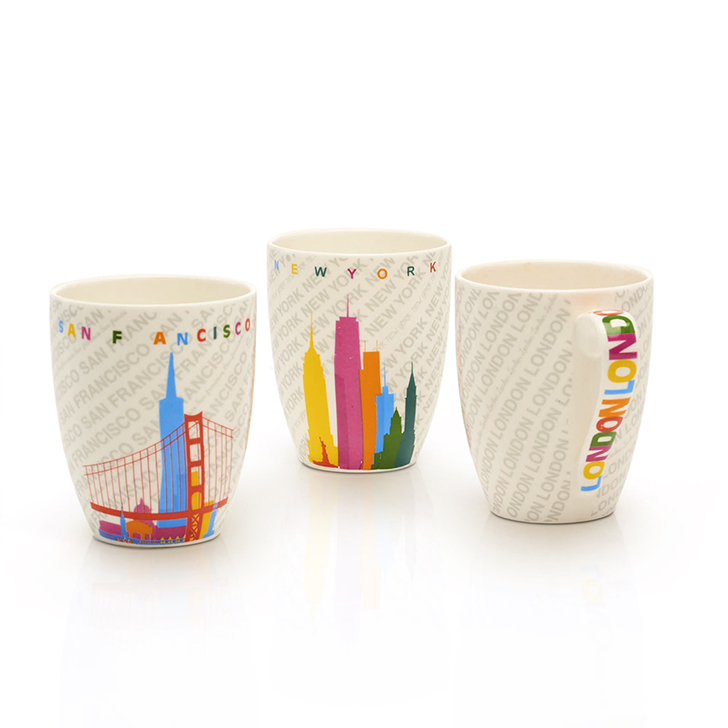 Living Essence Country Style Ceramic Colorful Mug 4 Pcs,Mugs & Cups