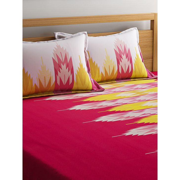Portico Sparkle Bedsheet Multicolour,Double Bed Sheets