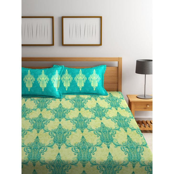 Double Bedsheet Tangy Orange Yellow,Double Bed Sheets