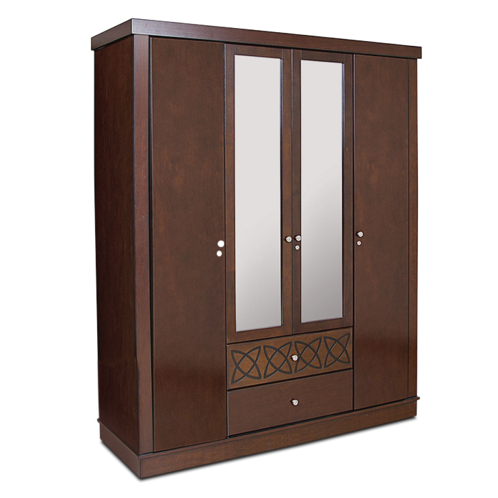 Buy Astra Four Door Wardrobe In Wenge Colour Online In India Ho340fu20mbzindfur