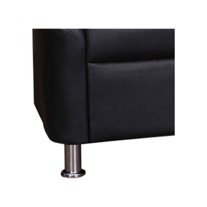 Belfast Leatherette Two Seater Sofa Black,Furniture