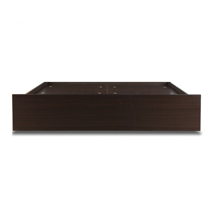 Alex King Bed With Box Storage in Dark Walnut,Furniture