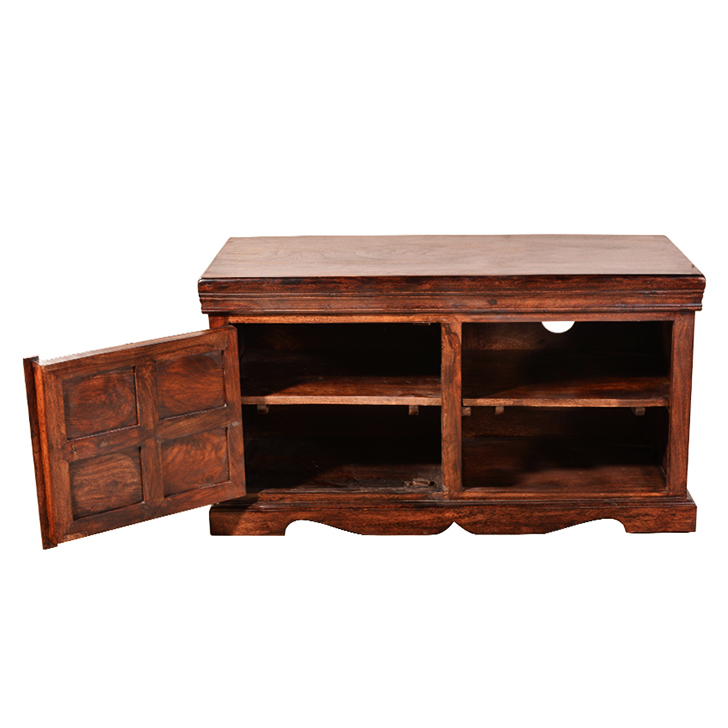 Somapi Tuskar Entertainment Unit in Walnut Finish,TV Units