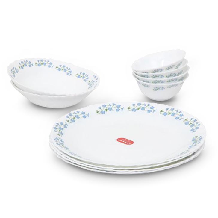 Diva Lavender Dew Opalware Dinner Set White 10 Pcs,Dinner Sets