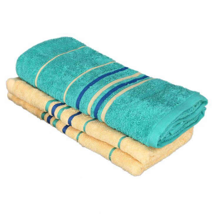 Emilia Bath Towel Butterscotch & Teal,Bath Towels