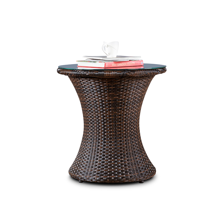 Dahlia Garden Table in Dark Oak & Brown Finish,Garden Furniture