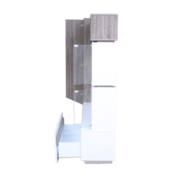Jasmine Wall Unit Dark Oak And White,Wall & Entertainment Units