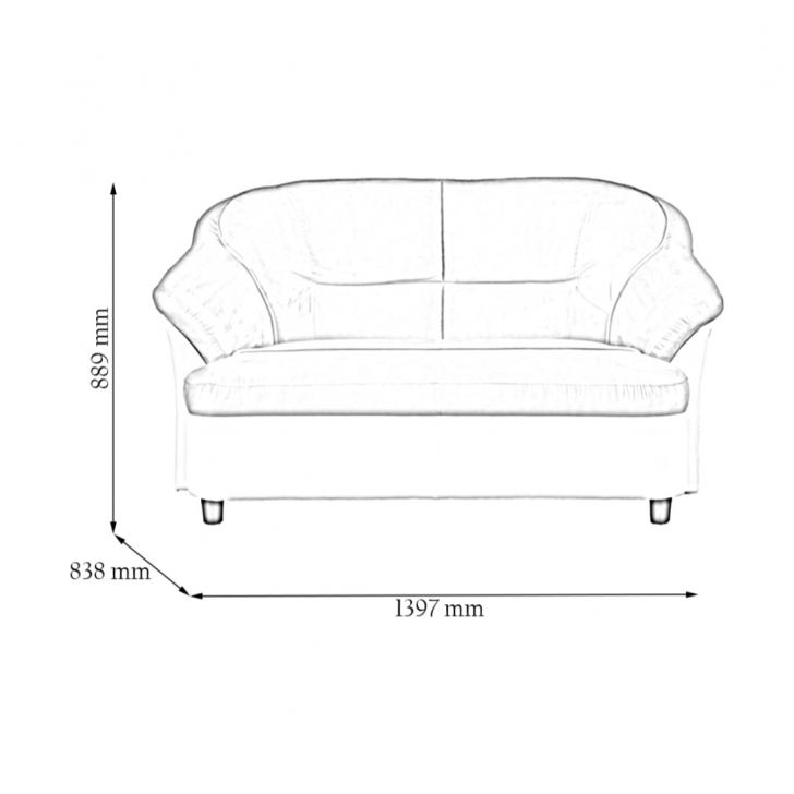 Lamia Pvc/Fab Two Seater Sofa Ivory,Furniture
