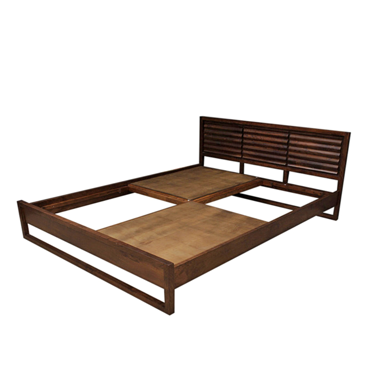 Unision King Size Bed in Nut Brown Finish,Bedroom Furniture