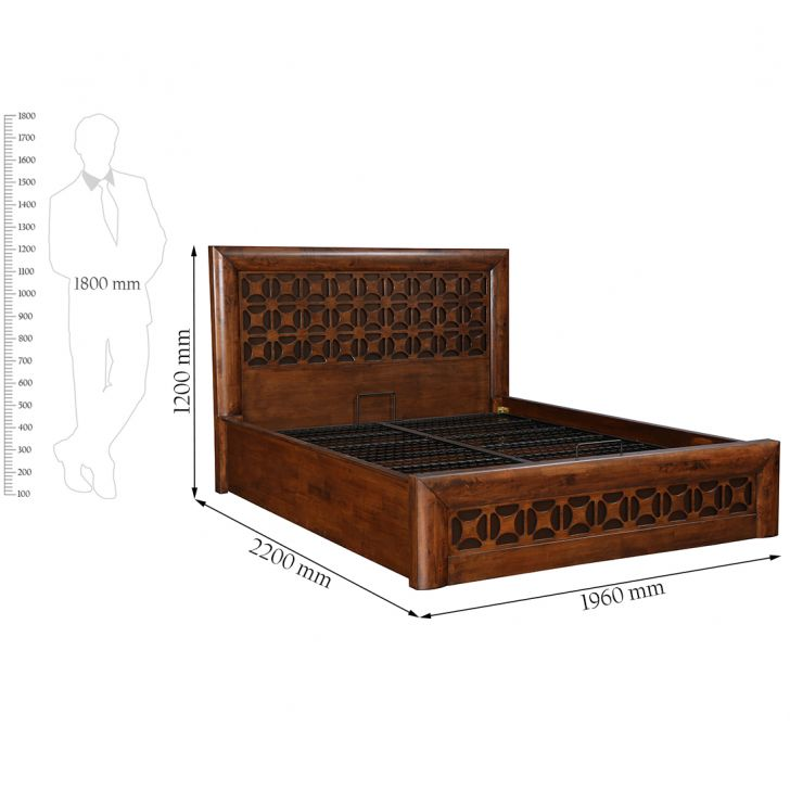 Casablanca King Bed With Hydraulic Storage,Hydraulic Beds