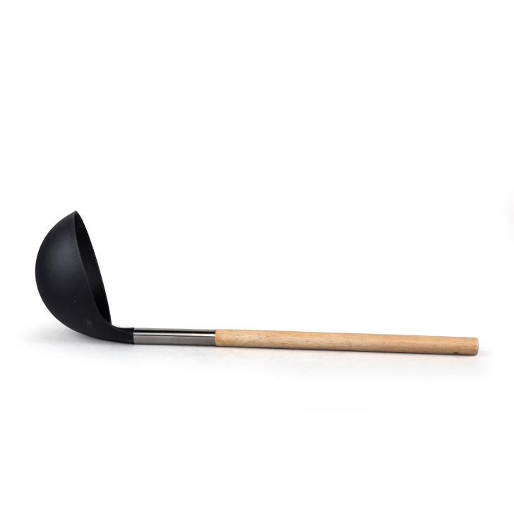 Living Essence Wooden Handle Nylon Soup Ladle,Spoons