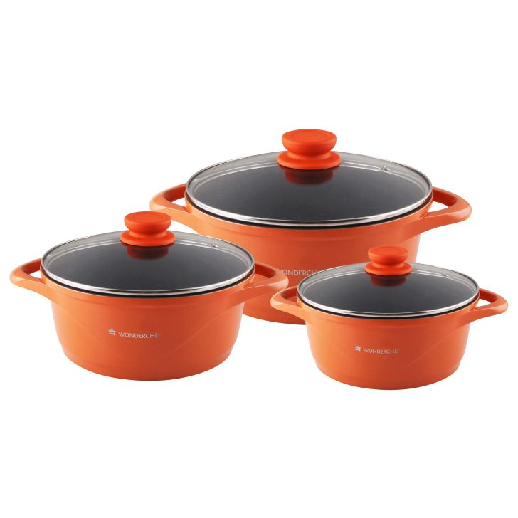 Wonderchef Ceramide Set Orange,Kitchenware