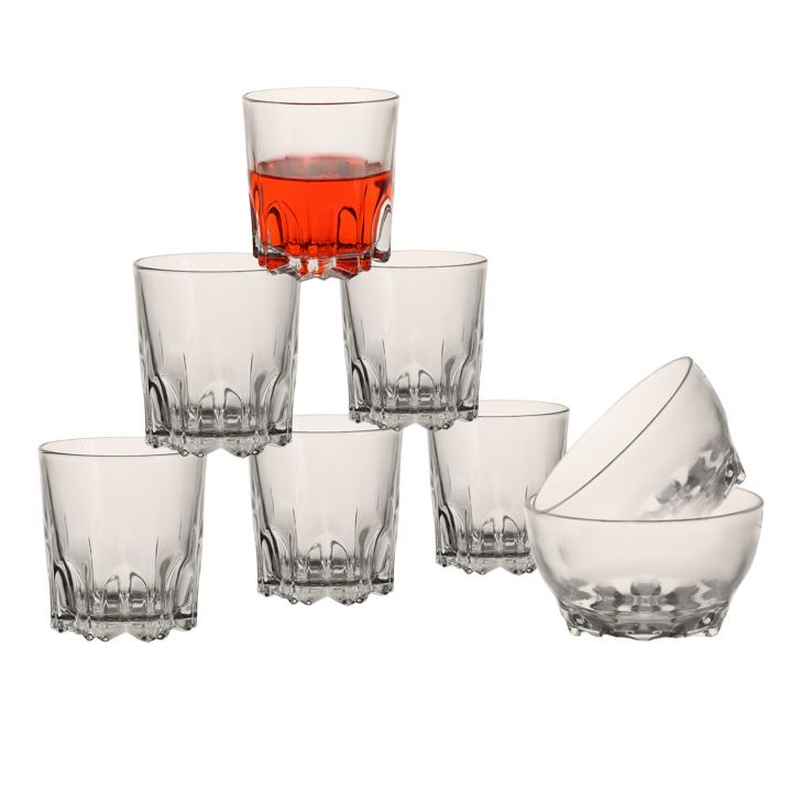 Lusture Party Pack Set Of 8,Glasses & Tumblers